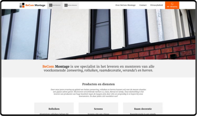 BeCom Montage website