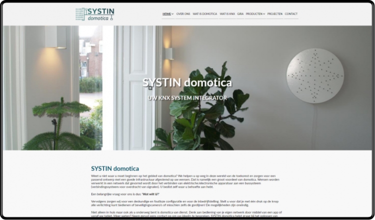 SYSTIN domotica website