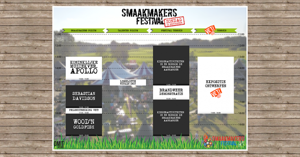 smaakmakers timetable